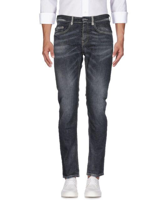 Frankie Morello - Black Denim Trousers for Men - Lyst