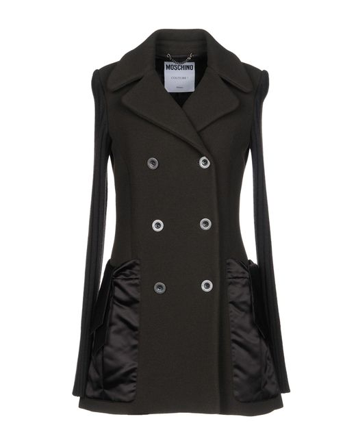 Moschino - Brown Coat - Lyst