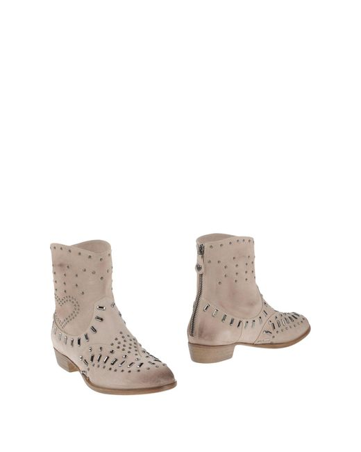 Twin Set | Natural Ankle Boots | Lyst