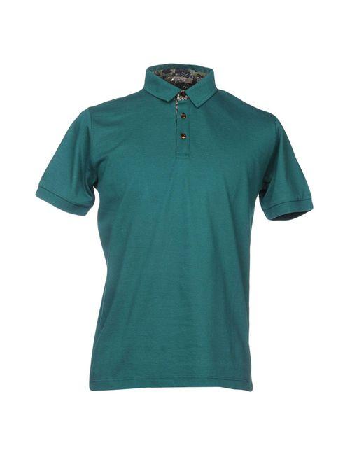 Andrea Fenzi - Green Polo Shirt for Men - Lyst
