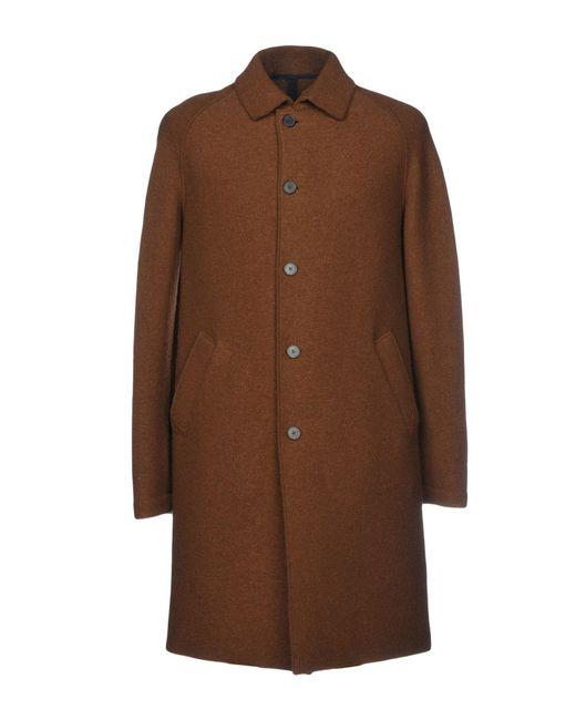 Harris Wharf London - Brown Coats for Men - Lyst