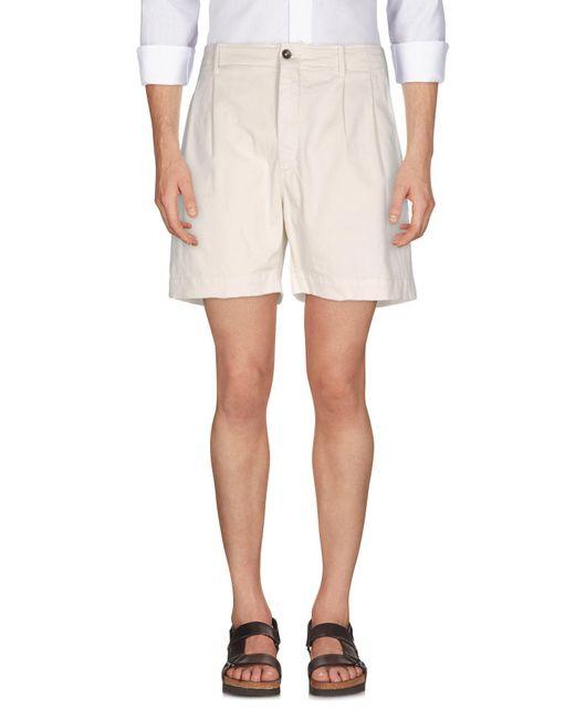 Pence - White Bermuda Shorts for Men - Lyst