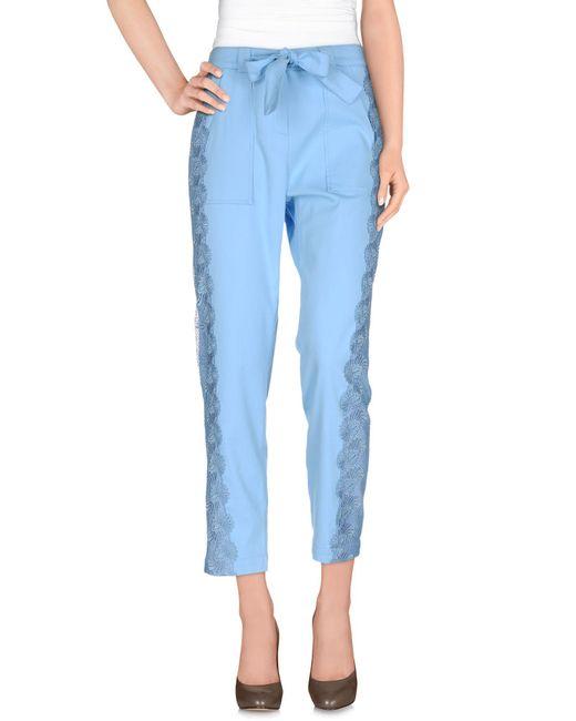 Pinko - Blue Casual Pants - Lyst