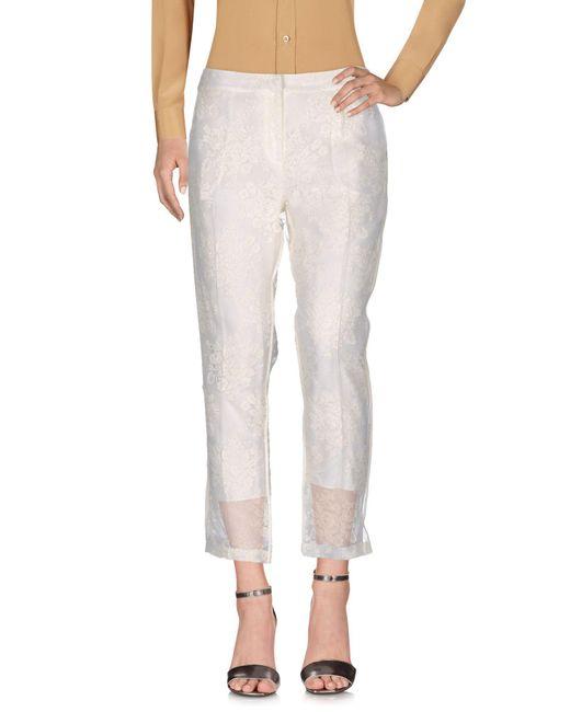 Erdem - White Casual Pants - Lyst