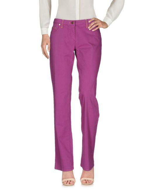 Alviero Martini 1A Classe - Purple Casual Pants - Lyst