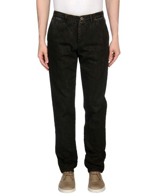 Trussardi - Brown Denim Trousers for Men - Lyst