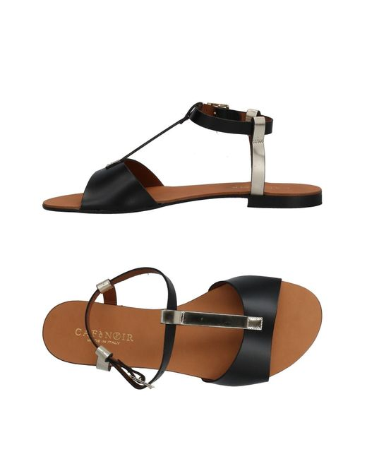 CafeNoir - Black Sandals - Lyst