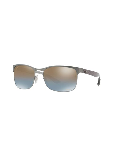 d4e823e35c Lyst - Gafas de sol Ray-Ban de hombre de color Gris