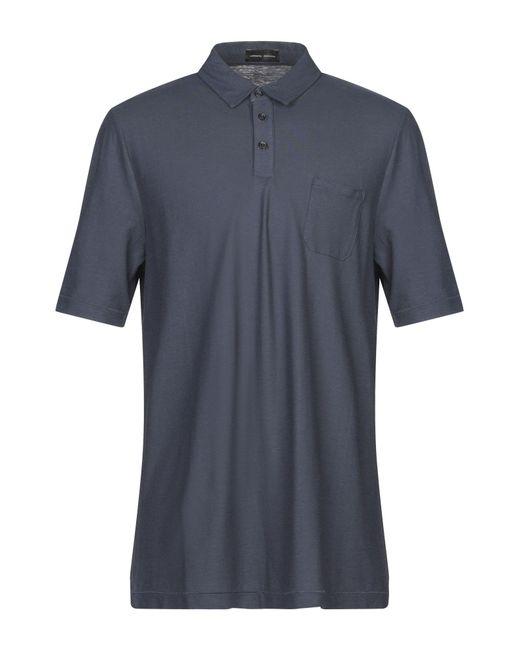 Roberto Collina Blue Polo Shirt for men
