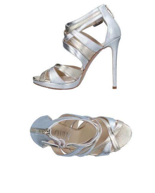 Ovye' By Cristina Lucchi - Metallic Sandals - Lyst