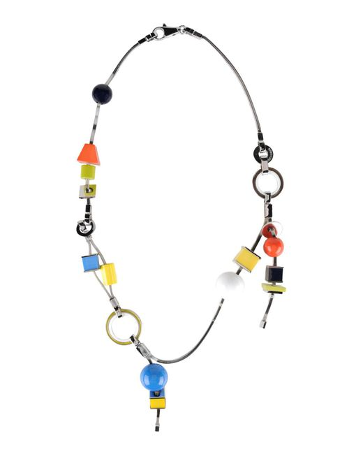 DSquared²   Metallic Necklace   Lyst