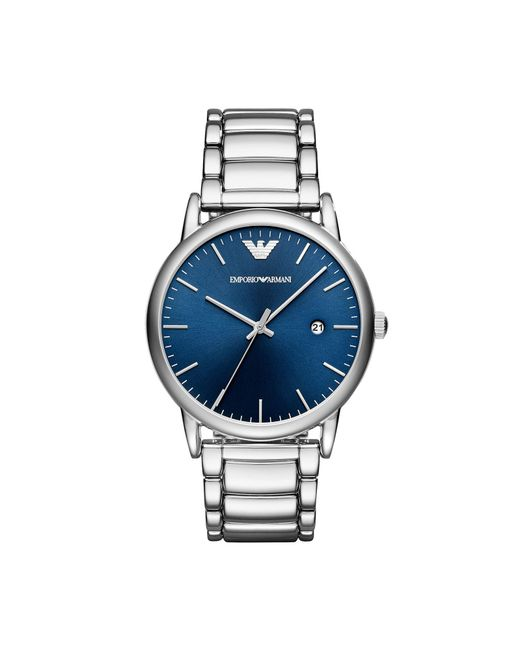 Emporio Armani - Metallic Wrist Watch for Men - Lyst