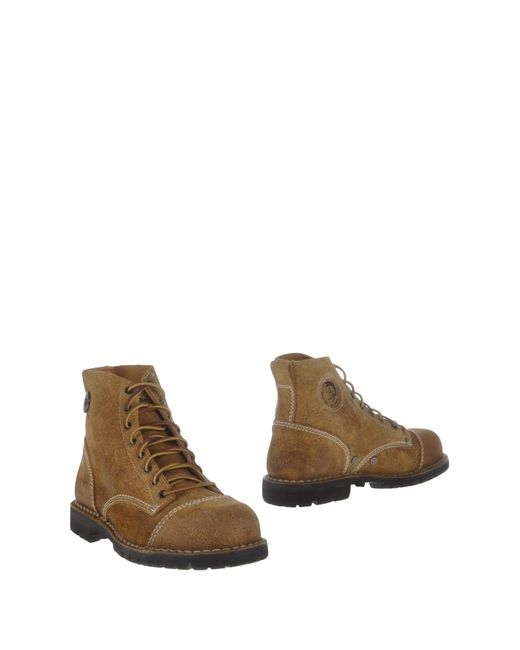 DIESEL | Natural Ankle Boots for Men | Lyst
