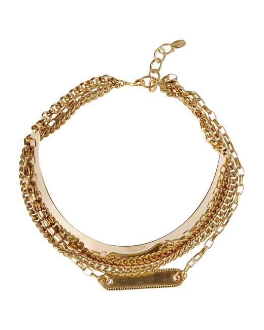 Elizabeth Cole - Metallic Necklace - Lyst