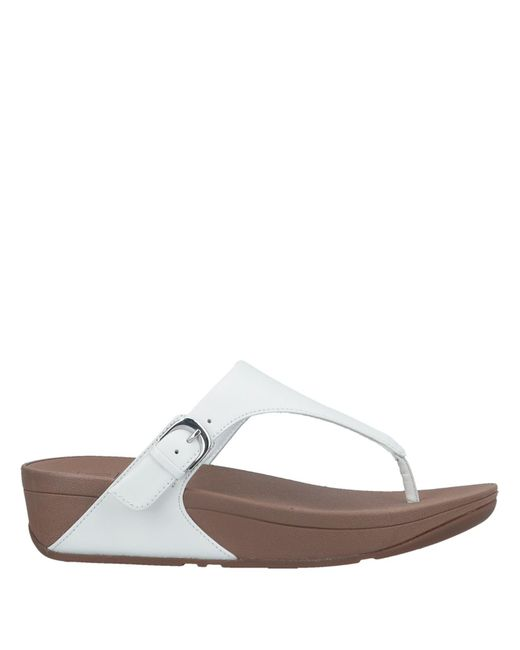 5378c7f11916 Fitflop - White Toe Post Sandal - Lyst ...