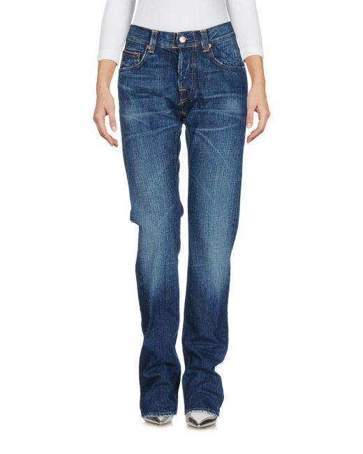 Care Label - Blue Denim Trousers - Lyst