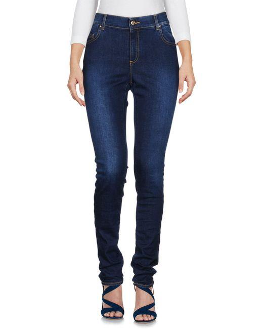 Versace Jeans - Blue Denim Trousers - Lyst