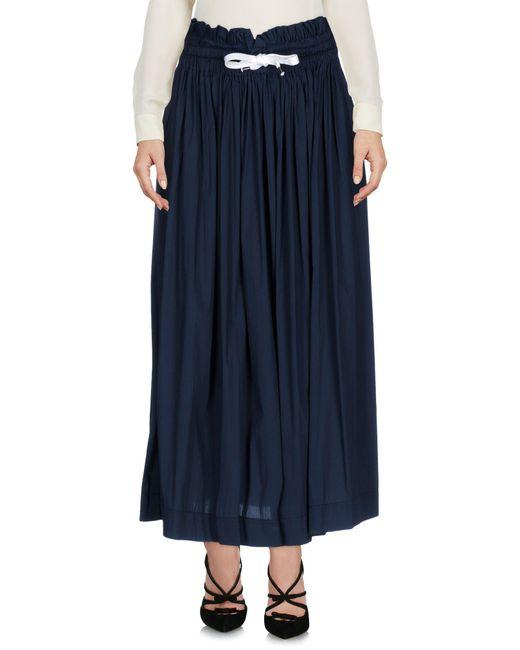 Kor@kor   Blue 3/4 Length Skirt   Lyst