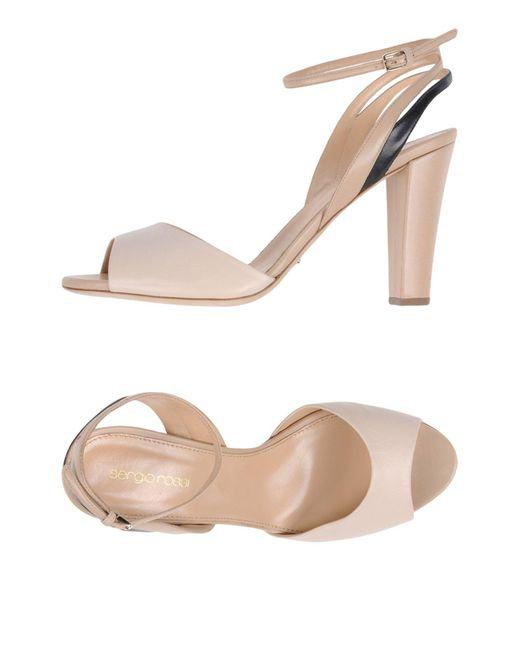 Sergio Rossi - Natural Sandals - Lyst