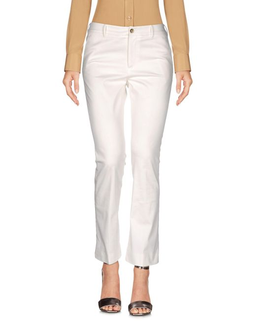 PT01 - White Casual Trouser - Lyst