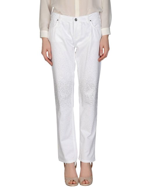 Fairly - White Casual Trouser - Lyst