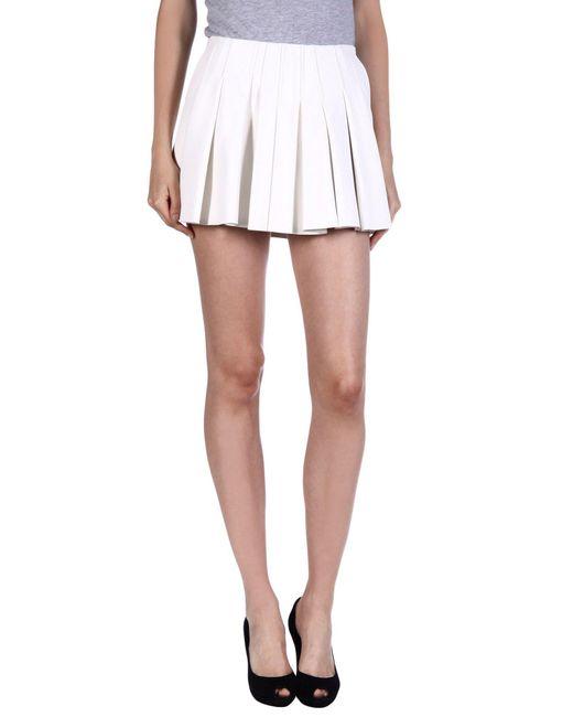 Alexander Wang - White Mini Skirt - Lyst