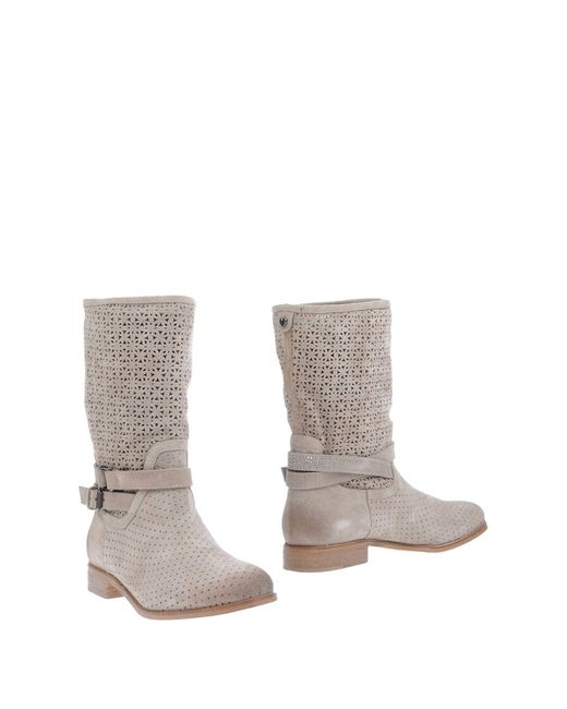 Twin Set - Gray Ankle Boots - Lyst