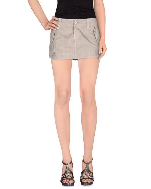 Dondup   Gray Mini Skirt   Lyst