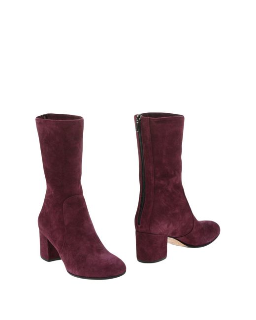 The Seller - Purple Ankle Boots - Lyst