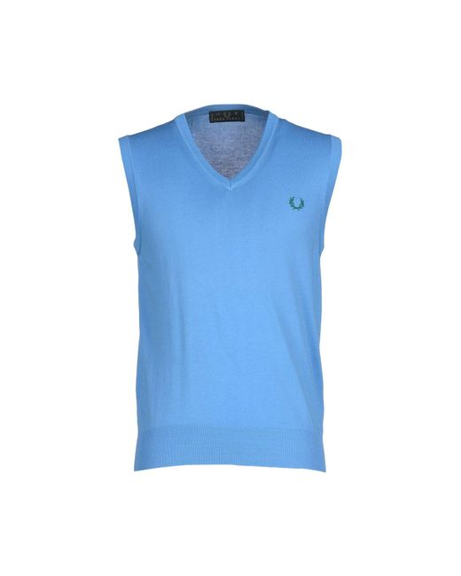 Fred Perry - Blue Jumper for Men - Lyst