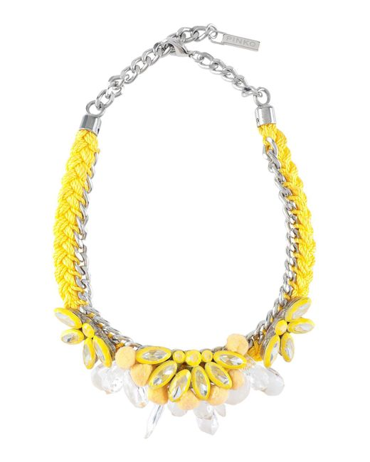 Pinko - Yellow Necklace - Lyst
