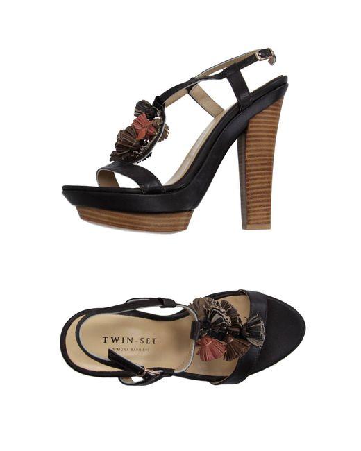 Twin Set - Brown Sandals - Lyst