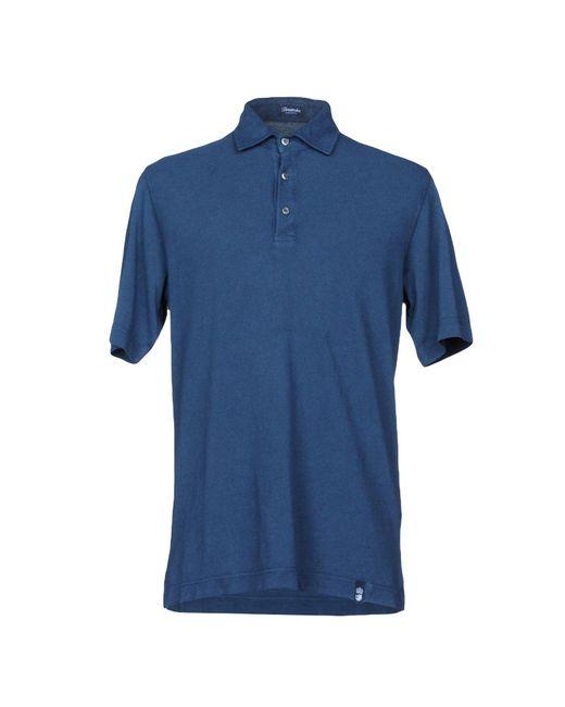 Drumohr - Blue Polo Shirt for Men - Lyst