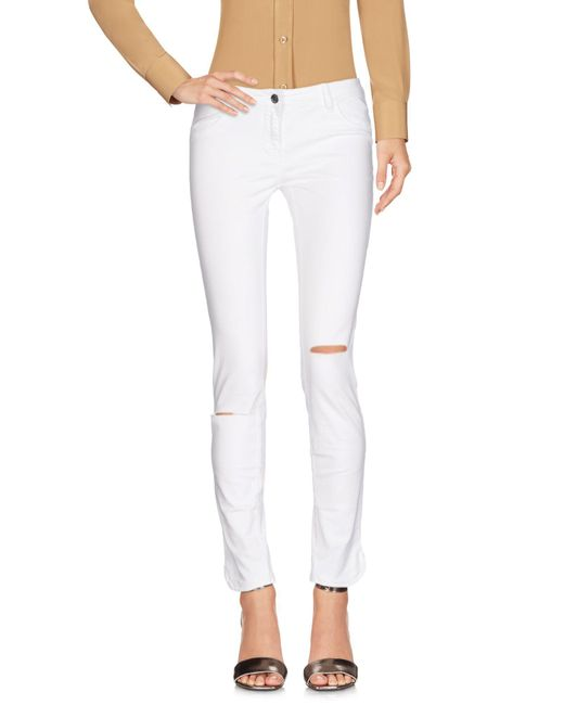 Met - White Casual Trouser - Lyst