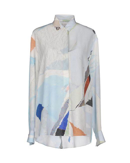 Maison Margiela - Blue Shirt - Lyst