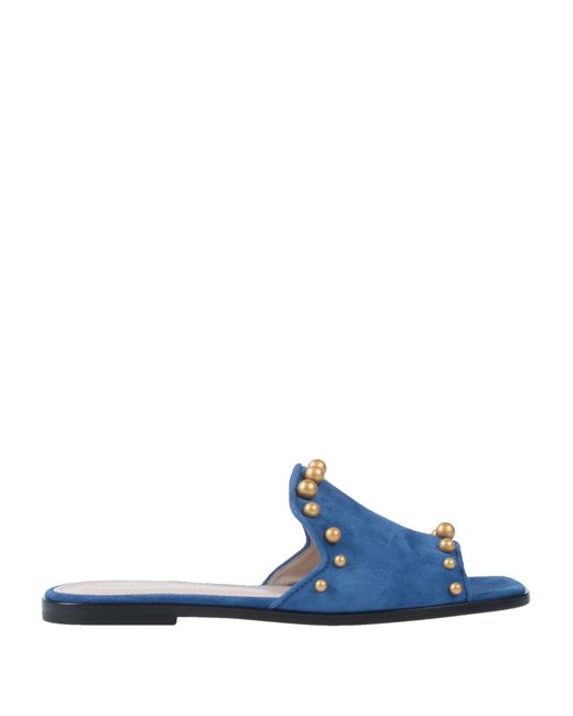 Pollini - Blue Sandals - Lyst