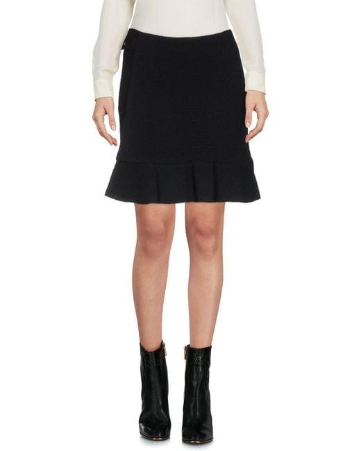 Boutique Moschino - Black Mini Skirts - Lyst