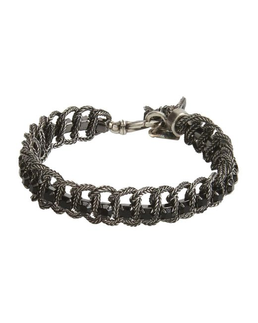 Emanuele Bicocchi - Black Bracelet for Men - Lyst