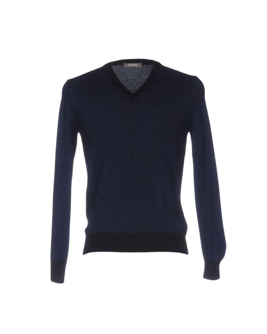Andrea Fenzi - Blue Jumper for Men - Lyst