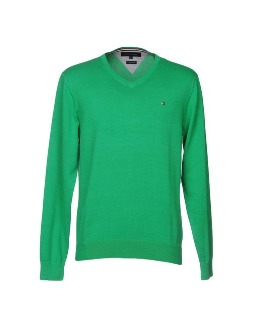 Tommy Hilfiger | Green Sweaters for Men | Lyst