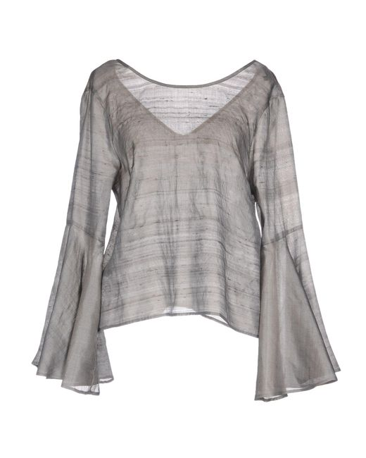 Brian Dales - Gray Blouse - Lyst