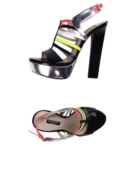 Ruthie Davis | Black Sandals | Lyst