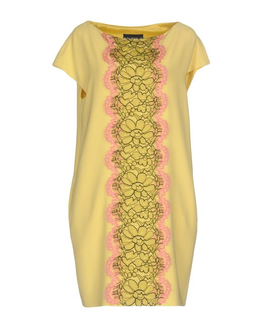 Boutique Moschino - Yellow Short Dresses - Lyst