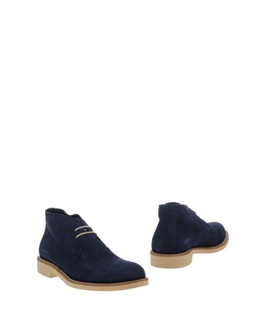 Hudson - Blue Ankle Boots for Men - Lyst