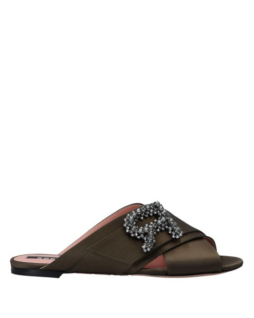 46a300c43257 Rochas - Green Sandals - Lyst ...