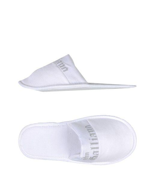 John Galliano - White Slippers - Lyst