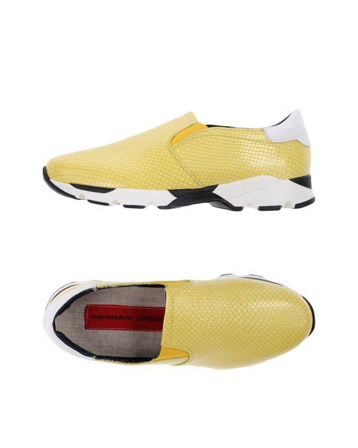 Gianmarco Lorenzi - Yellow Low-tops & Sneakers - Lyst