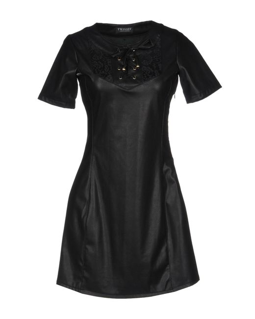 Twin Set - Black Short Dresses - Lyst