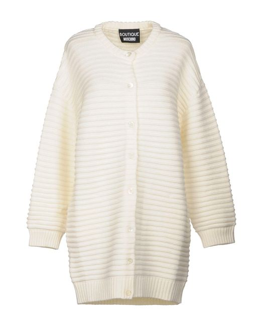 Boutique Moschino - White Cardigan - Lyst