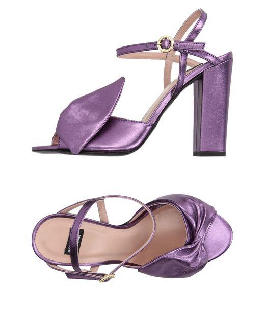 Boutique Moschino - Purple Sandals - Lyst